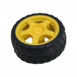 چرخ موتور زرد